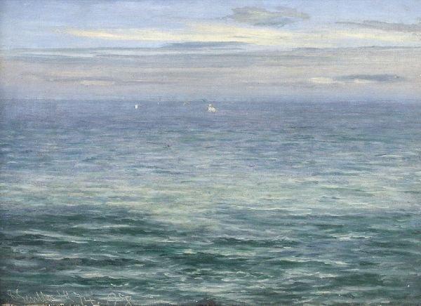 """20: Christian Zacho """"Sea landscape"""". 1874."""