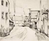 336 Bernhard Kretzschmar Street of a village 1924