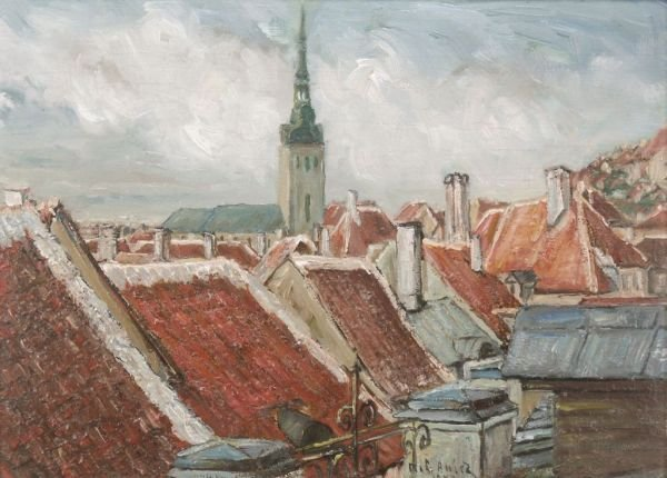 "1: Marie Loise Amiet ""Over the roofs"". 1943."