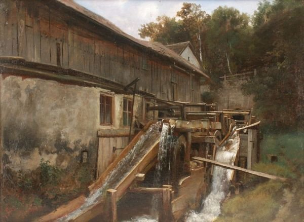 "7: Ludwig Correggio ""Water mill"". 1867."