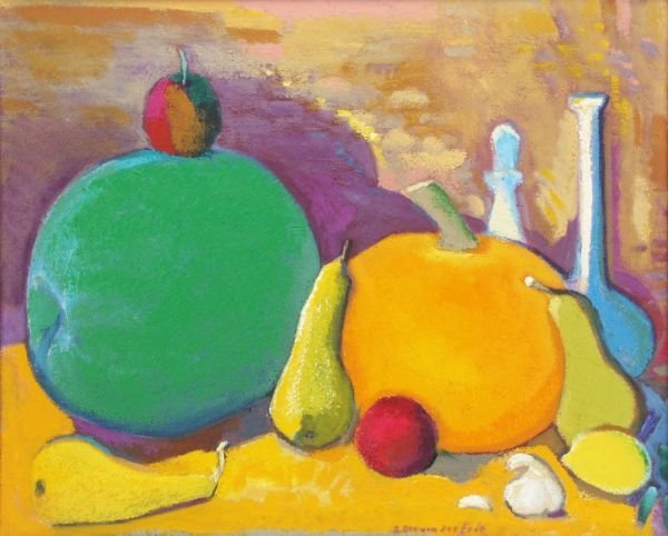 "9: Eberhard von der Erde ""Still life with melon and"