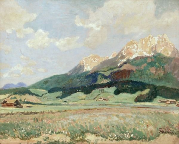 "12: Walter Friederici ""Kaisergebirge of St. Johann by"