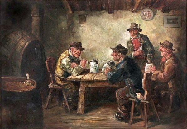 "14: Otto Günther ""Tavern scene"". Ca. 1870."
