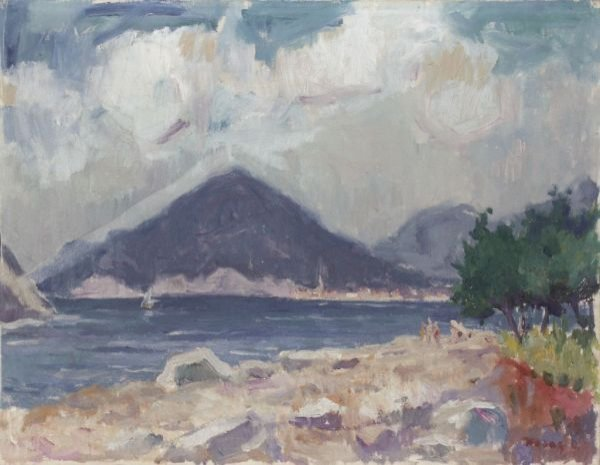 "16: Otto Holas ""Southerly landscape"". 20th cent."
