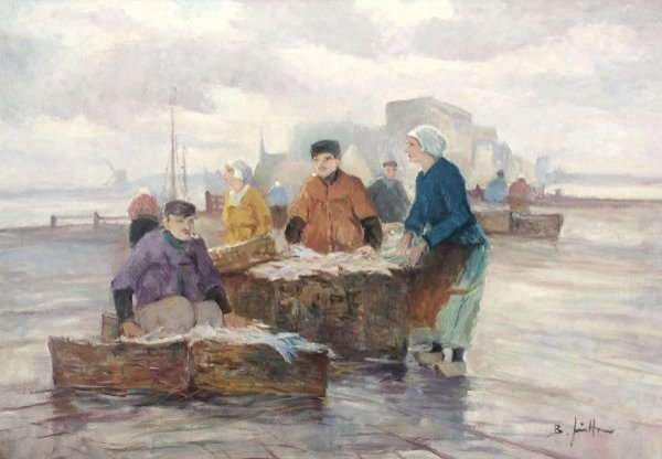 "18: Bruno Jüttner ""Fishers"". No date."