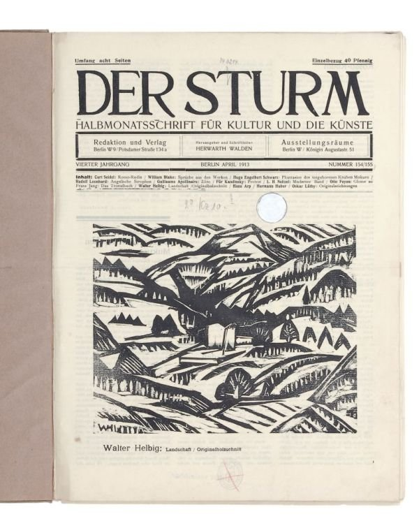 "358: Periodical ""Der Sturm"" (The storm). 1913-1914."