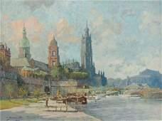 """4: Ferdinand Brandt """"View of Dresden"""". 1920."""