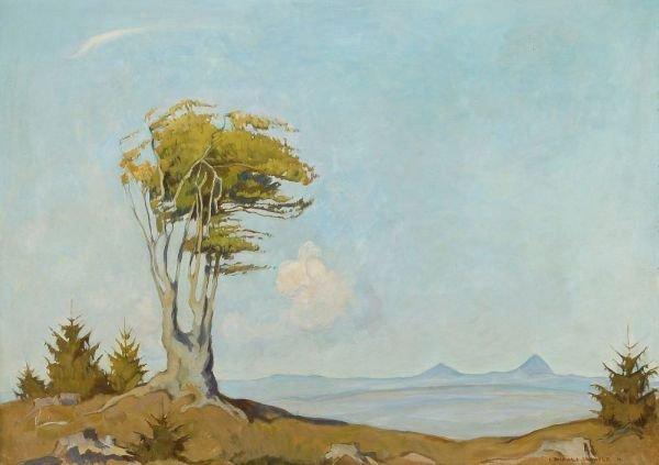 """5: Erich Buchwald-Zinnwald """"Tree in wide landscape""""."""