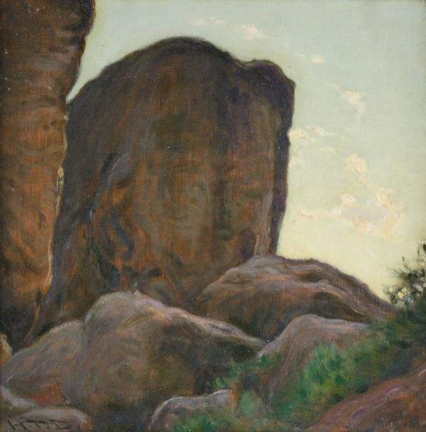 """8: Hermann Theodor Droop """"Sandstones"""". 1930."""