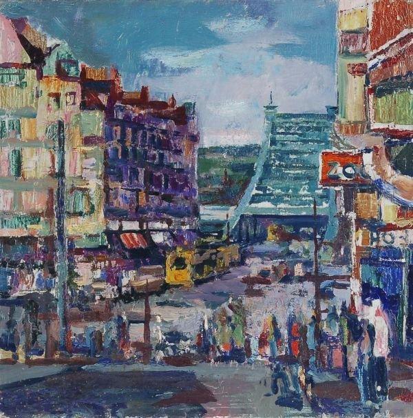 "12: Ernst Fechter ""Dresden - Schillerplatz"". 1980."
