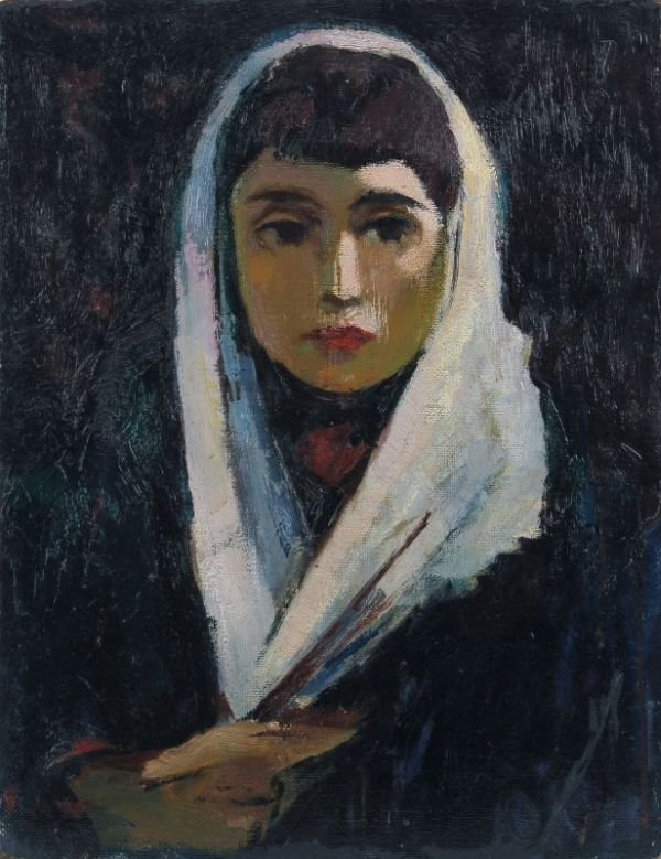 "13: Ernst Fechter ""Portrait of a young female"". No da"