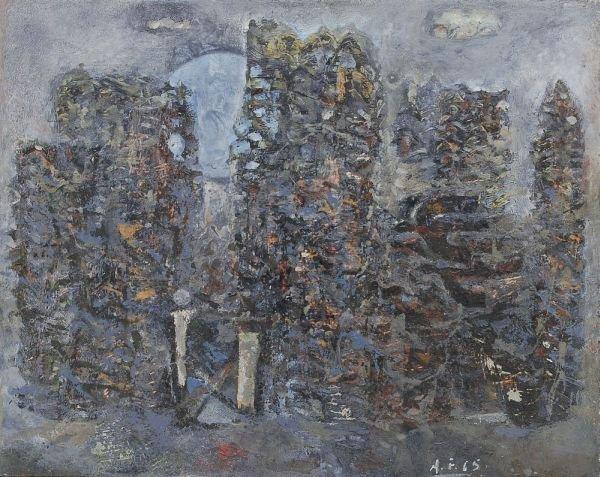 "14: Achim Freyer ""Forgotten park"". 1965."