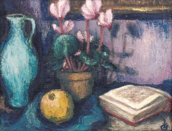 "19: Irmingard Grünwald ""Still life with can and book"""