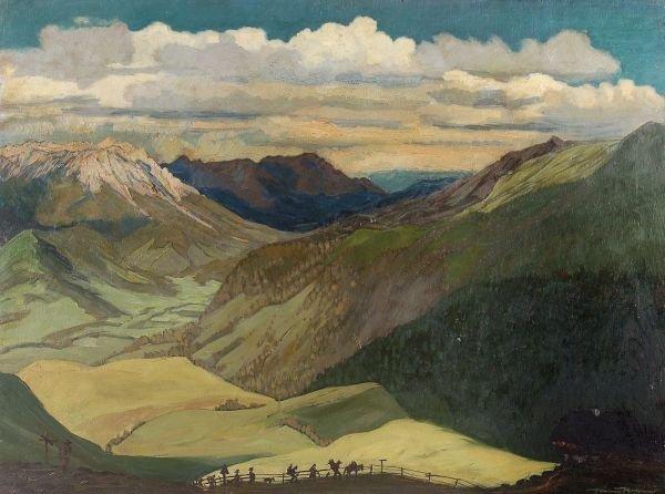 """24: Hanns Herzing """"The green valley"""". 1940."""