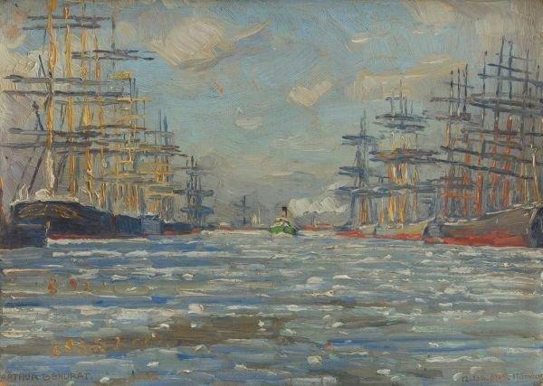 "3: Arthur Bendrat ""Harbour"". 1909."