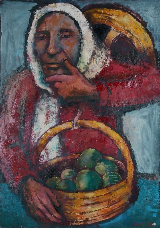 "10: Alice Brasse-Forstmann ""Peasant with basket of fr"