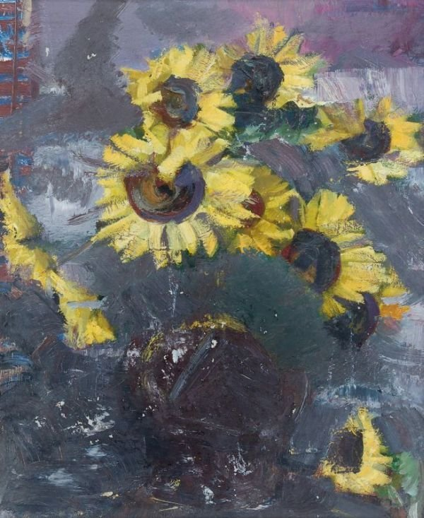 "24: Erna Geistaute ""Sunflowers"". No date."