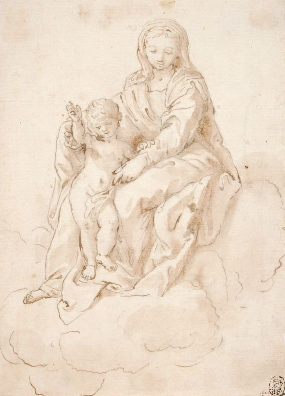 "110: Unknowen Italien artist ""Madonna with Jesus as a"