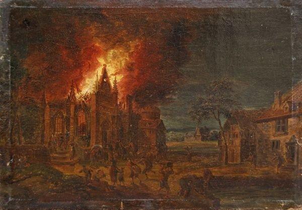 Jan Thomas van Kessel (Umkreis), Brand einer gotischen