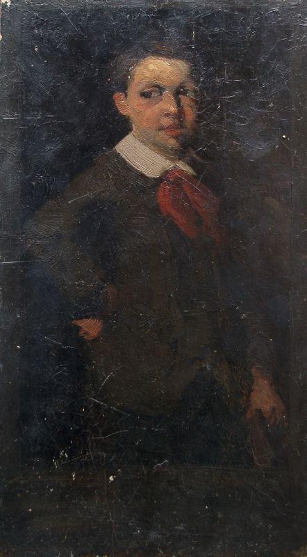 Wilhelm Maria Leibl (Nachfolge ?), Stehender Knabe. Woh
