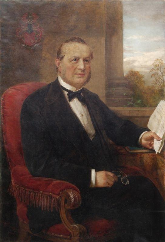 Bernhard Plockhorst, Portrait des Leipziger Verlegers C