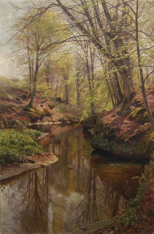 Peder Mørk Mønsted Springtime in the woods near Sæby. 1