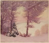 """Paul Leschhorn """"Winterabend"""". No date."""