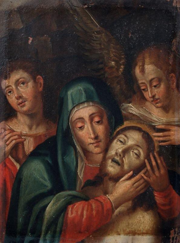 1: Unbekannter Künstler, Maria mit dem toten Christus.