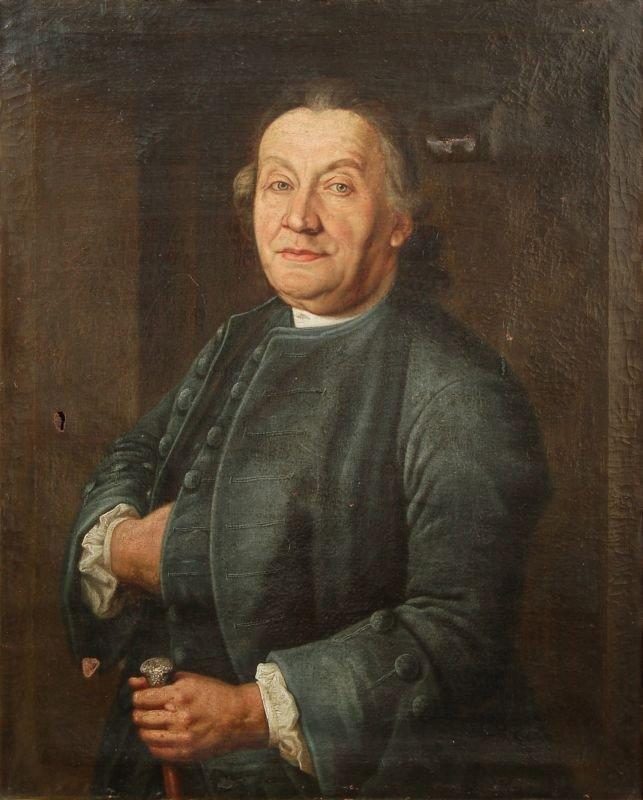 2: Unbekannter Künstler, Bildnis eines Herren mit Gehst