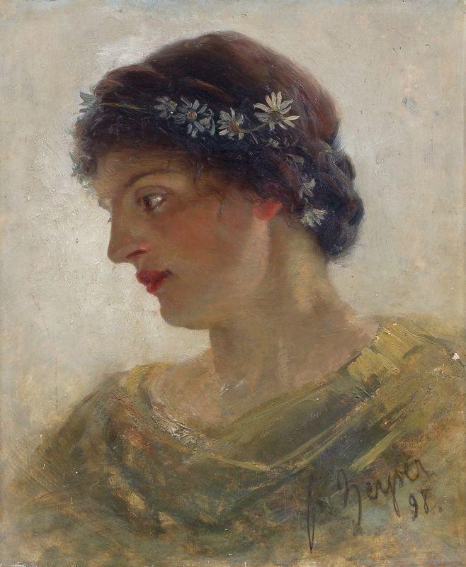 6: Friedrich Wilhelm Theodor Heyser, Portrait einer jun
