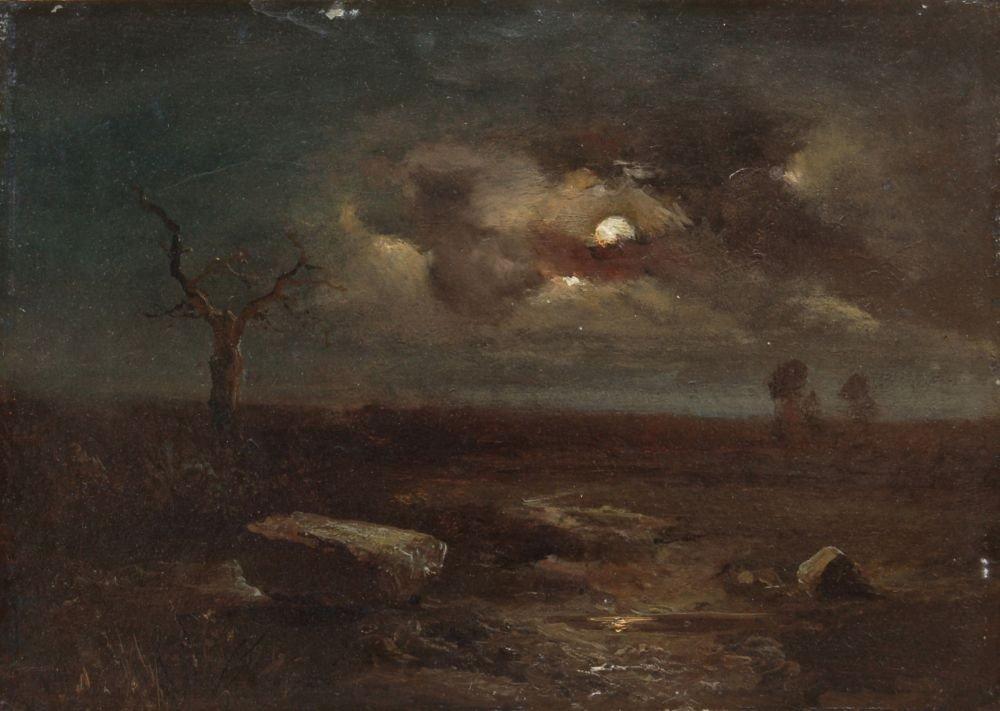 11: Carl Gustav Carus, Mondscheinlandschaft. Um 1830.