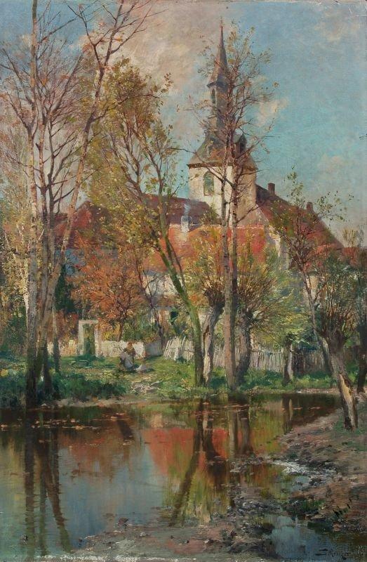 13: Jacques Matthias Schenker, Sächsischer Dorfanger im