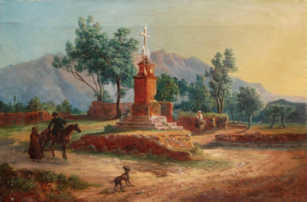 17: Ludwig Vogel, Sizilianische Landschaft bei Palermo