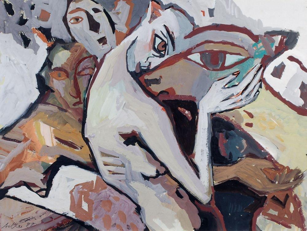 "23: Leonore Adler ""Frauen mit Kalb"". 1988."