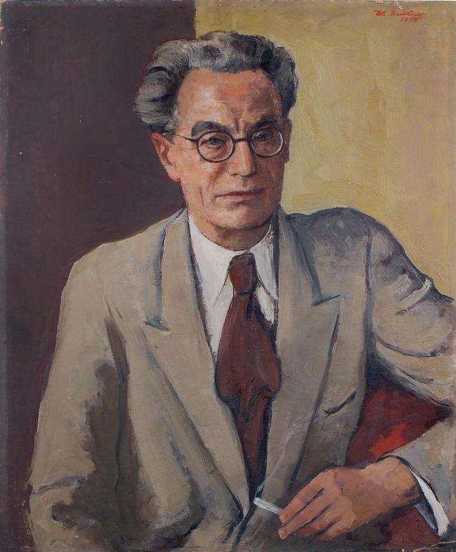 26: Johannes Beutner, Portrait des Verlegers Erhard Bun