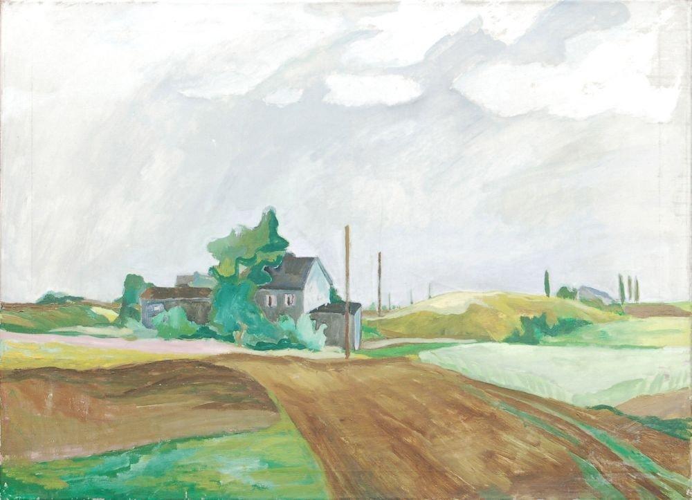 """29: Gottfried Bräunling """"Kleines Gehöft"""". 1977."""