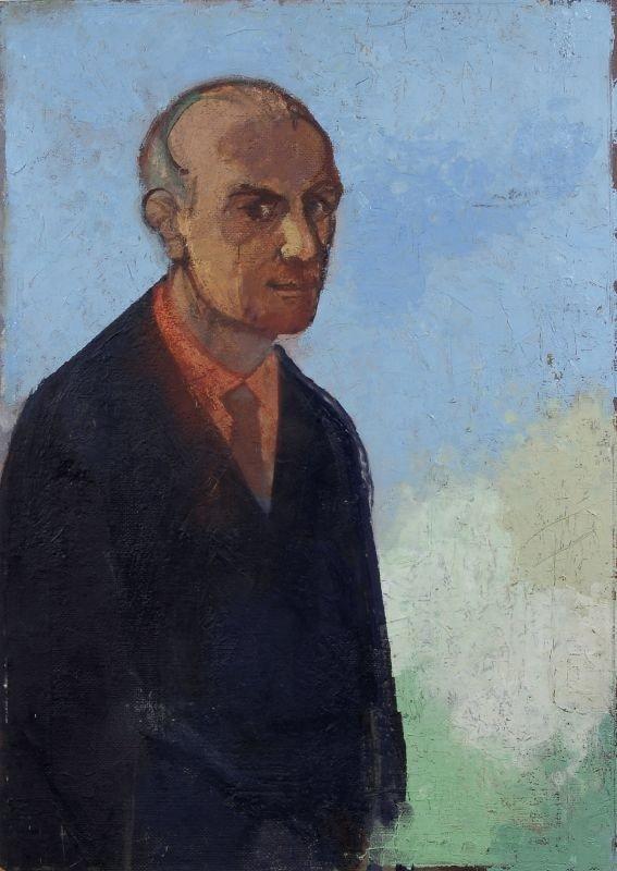"""34: Heinrich Burkhardt """"Selbstbildnis"""". 1977."""
