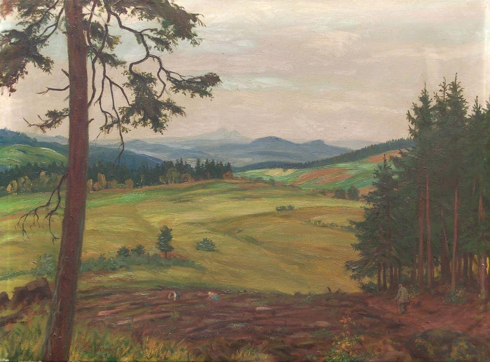 41: Otto Julius Fritzsche, Böhmische Herbstlandschaft.