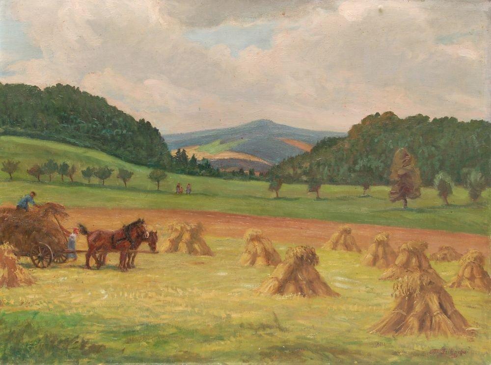 42: Otto Julius Fritzsche, Sommerlandschaft mit Wilisch