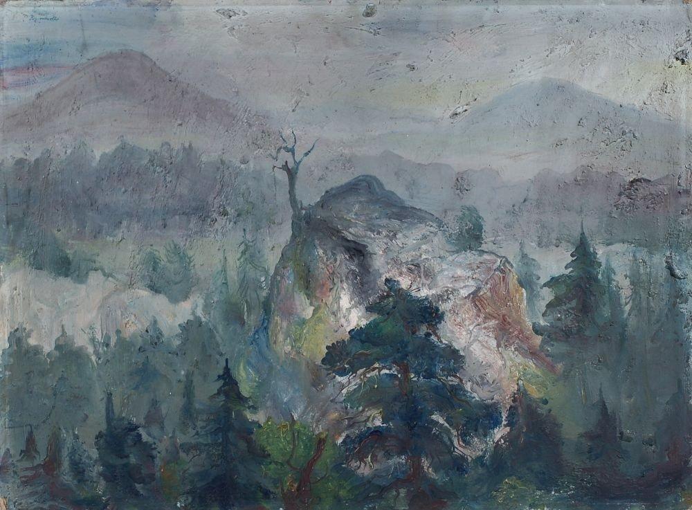 47: Josef Hegenbarth, Böhmische Mittelgebirgslandschaft