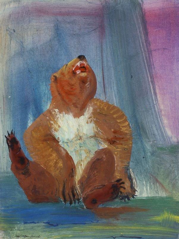 """49: Josef Hegenbarth """"Braunbär"""". 1957."""