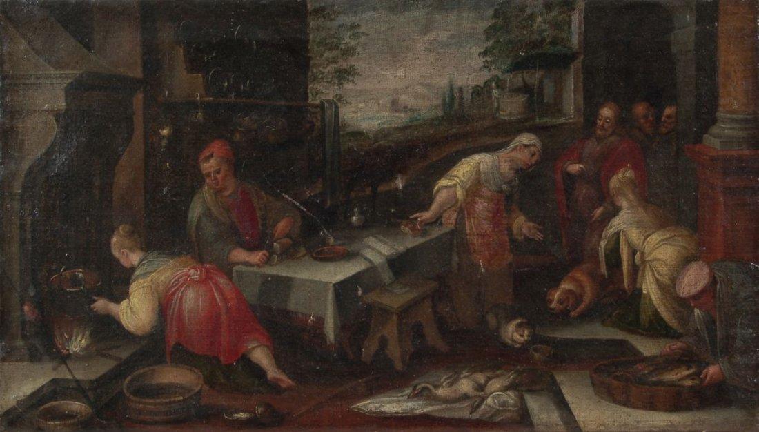 """2: Jacopo Bassano (Kopie nach) """"Christus im Haus von Ma"""