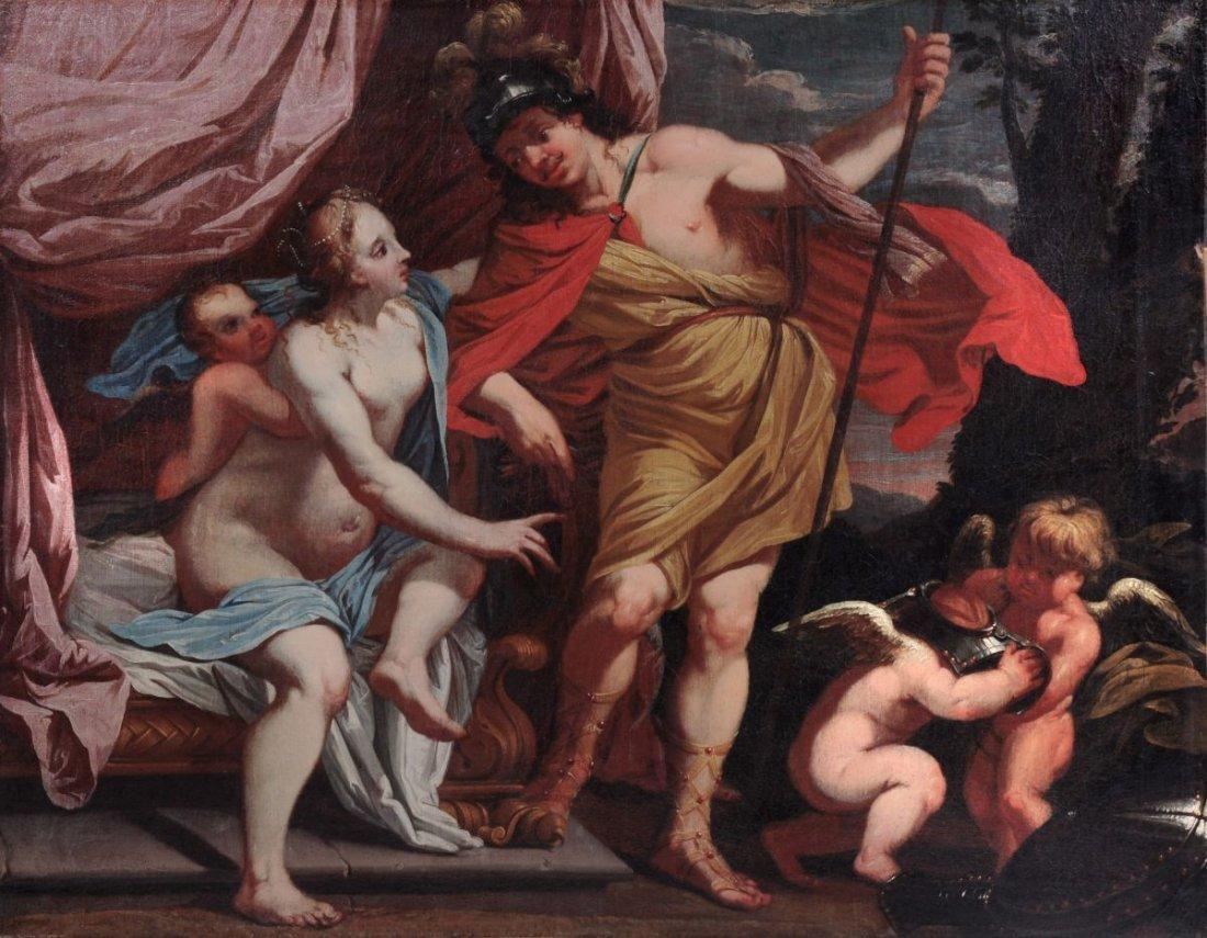 4: Simon Vouet (Kopie nach), Venus und Mars mit Amorett