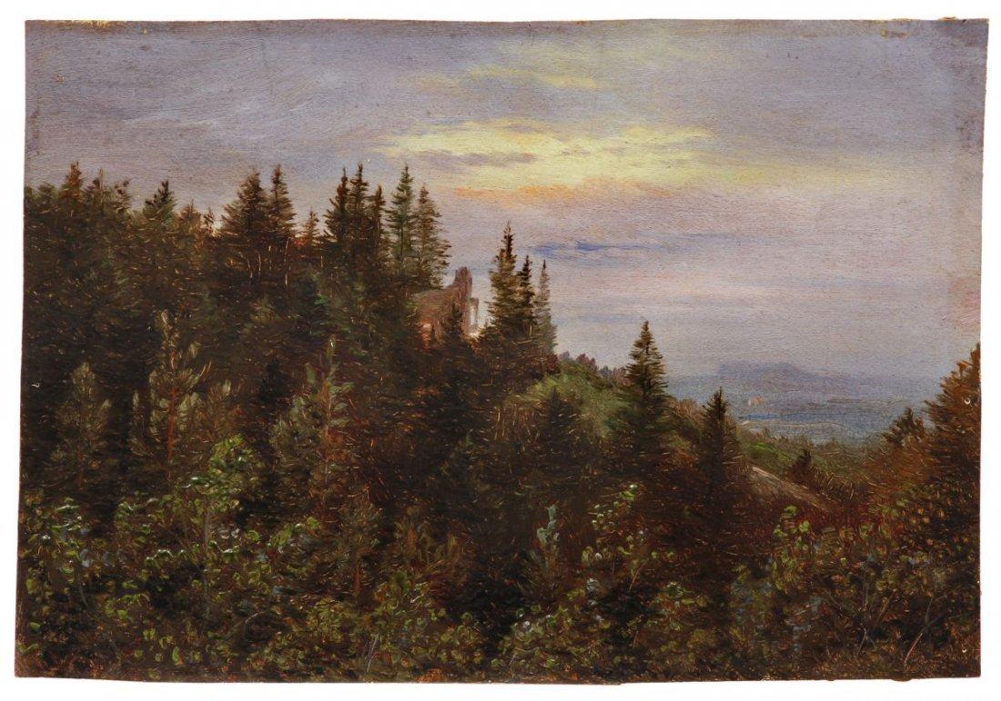 5: Carl Gustav Carus Pillnitz landscape with ruin. Arou