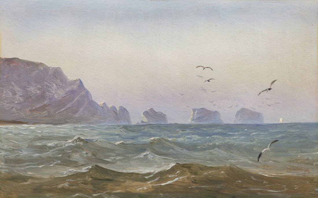 6: Carl Gustav Carus, Seascape with rocks (The Needles,