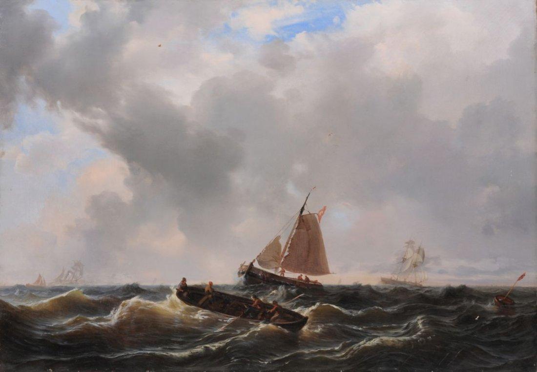 12: Wilhelm August Krause, Segler und Ruderboot im aufz