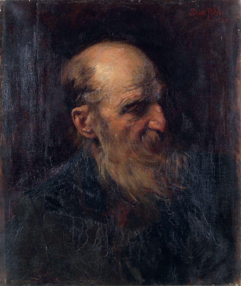 25: Friedrich Leon Pohle, Bildnis eines weißbärtigen Ma