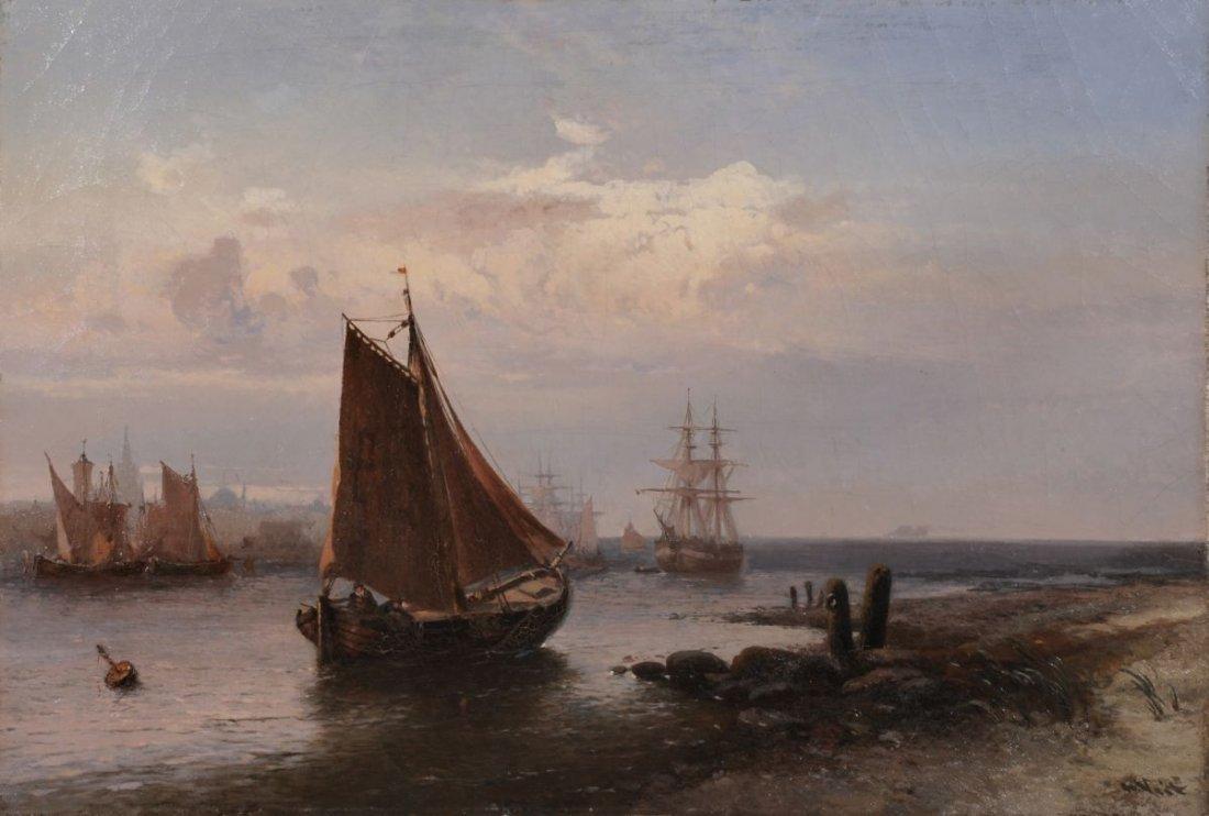 31: Hugo Veit, Segelschiffe und Fischerboote auf der Sc
