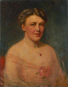 Antonie Kaulbach, Portrait Einer Jungen Dame / Port