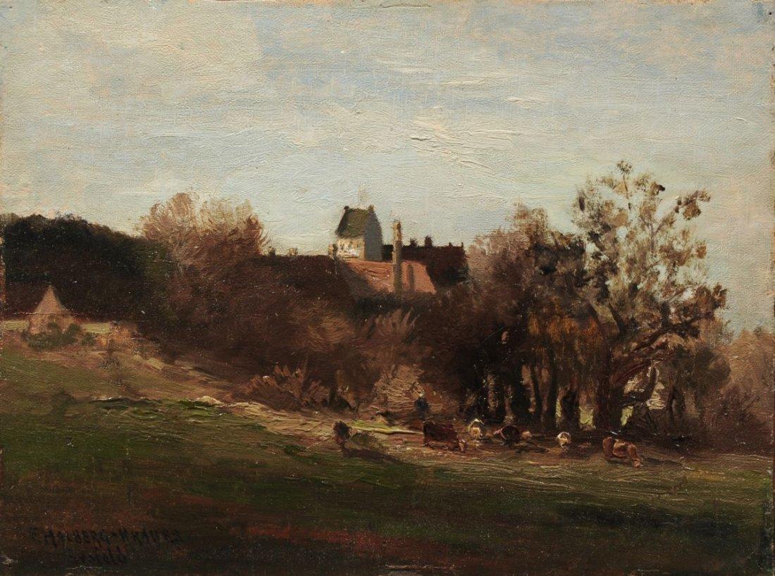 88: Fritz Halberg-Krauss, Blick auf Schloß Seefeld mit